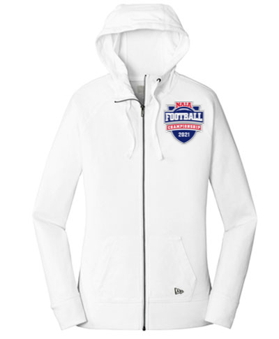 Ladies Full Zip Hoody / White