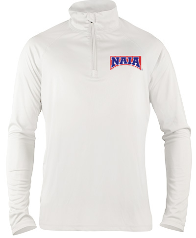1/4 Zip Performance Pullover / White