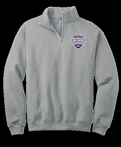 Quarter Zip Sweatshirt / Gray