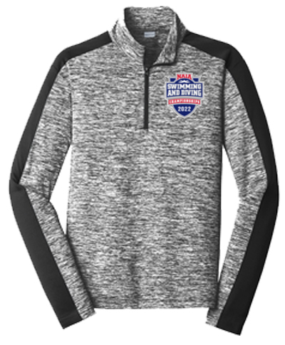 1/4 Zip Performance Pullover / Electric Black
