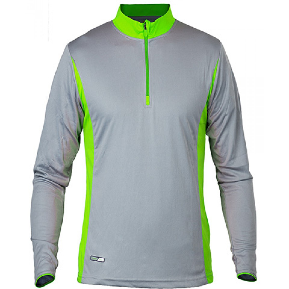 Long Sleeves 3/4 Zip Performance With Side Insert