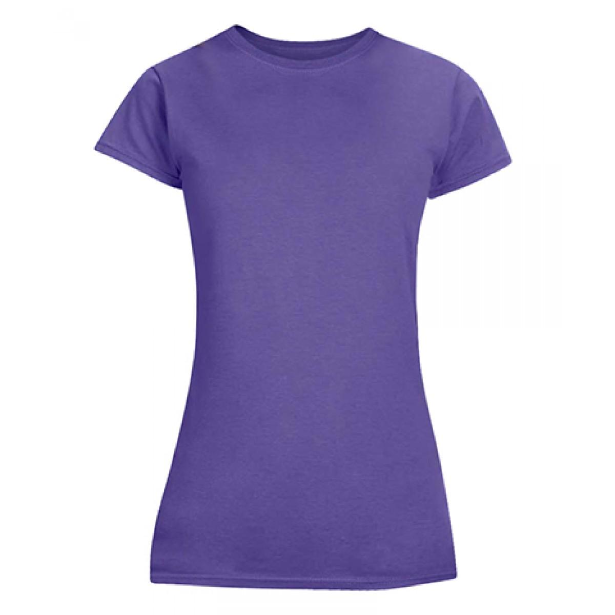 Junior Fit T-Shirt-Purple-L
