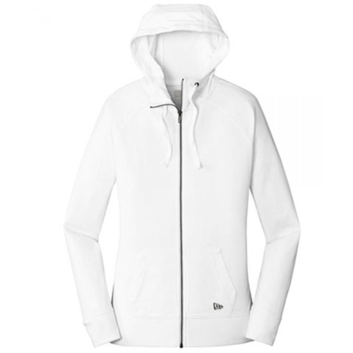 Ladies Full Zip Hoody / White
