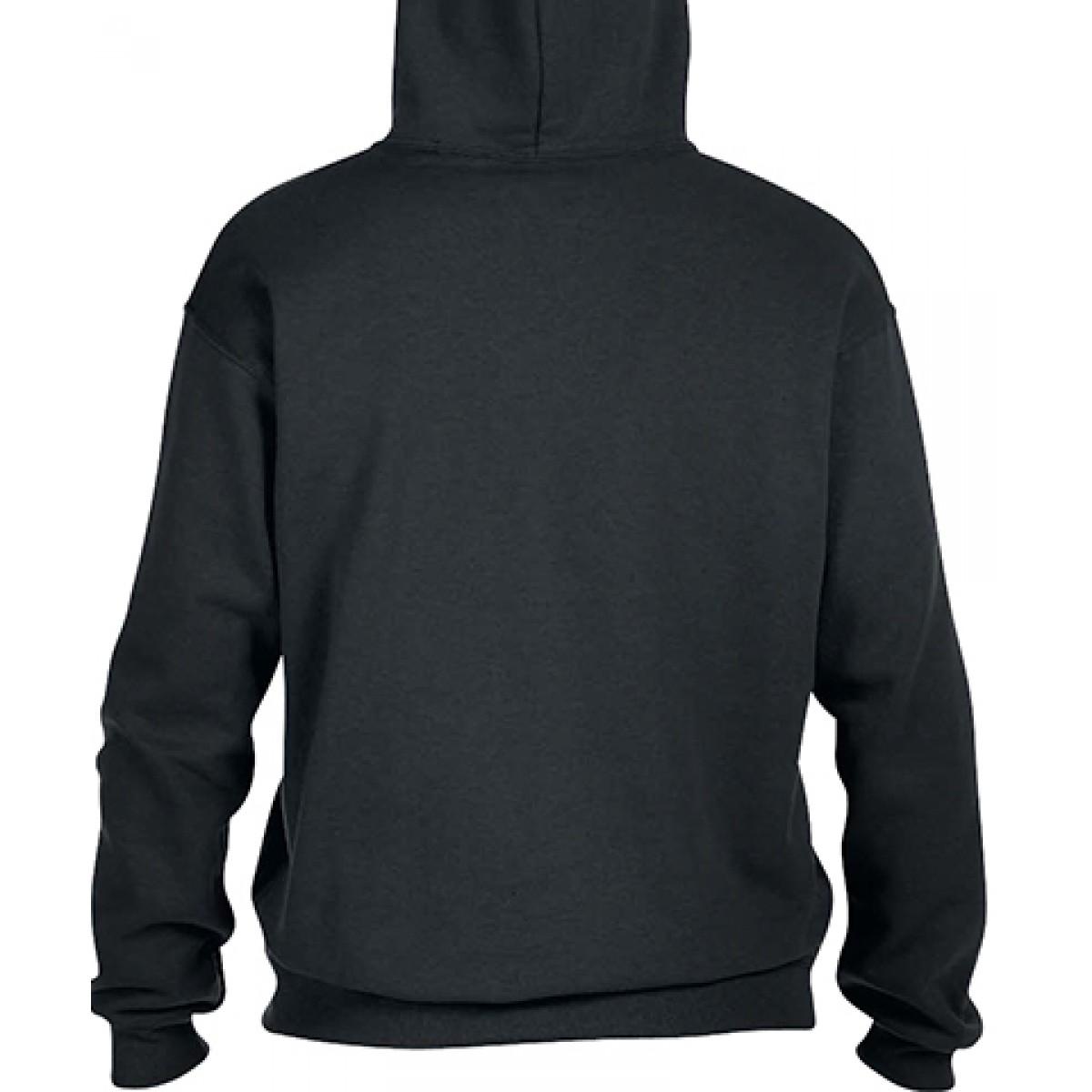 Pullover Hood 50/50 Preshrunk Fleece-Black-XL