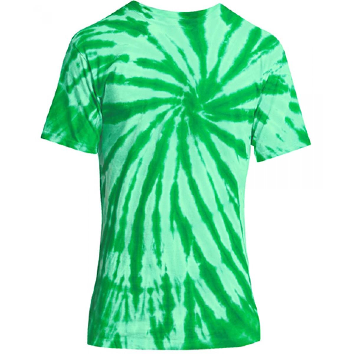 Essential Tie-Dye Tee-Green-2XL
