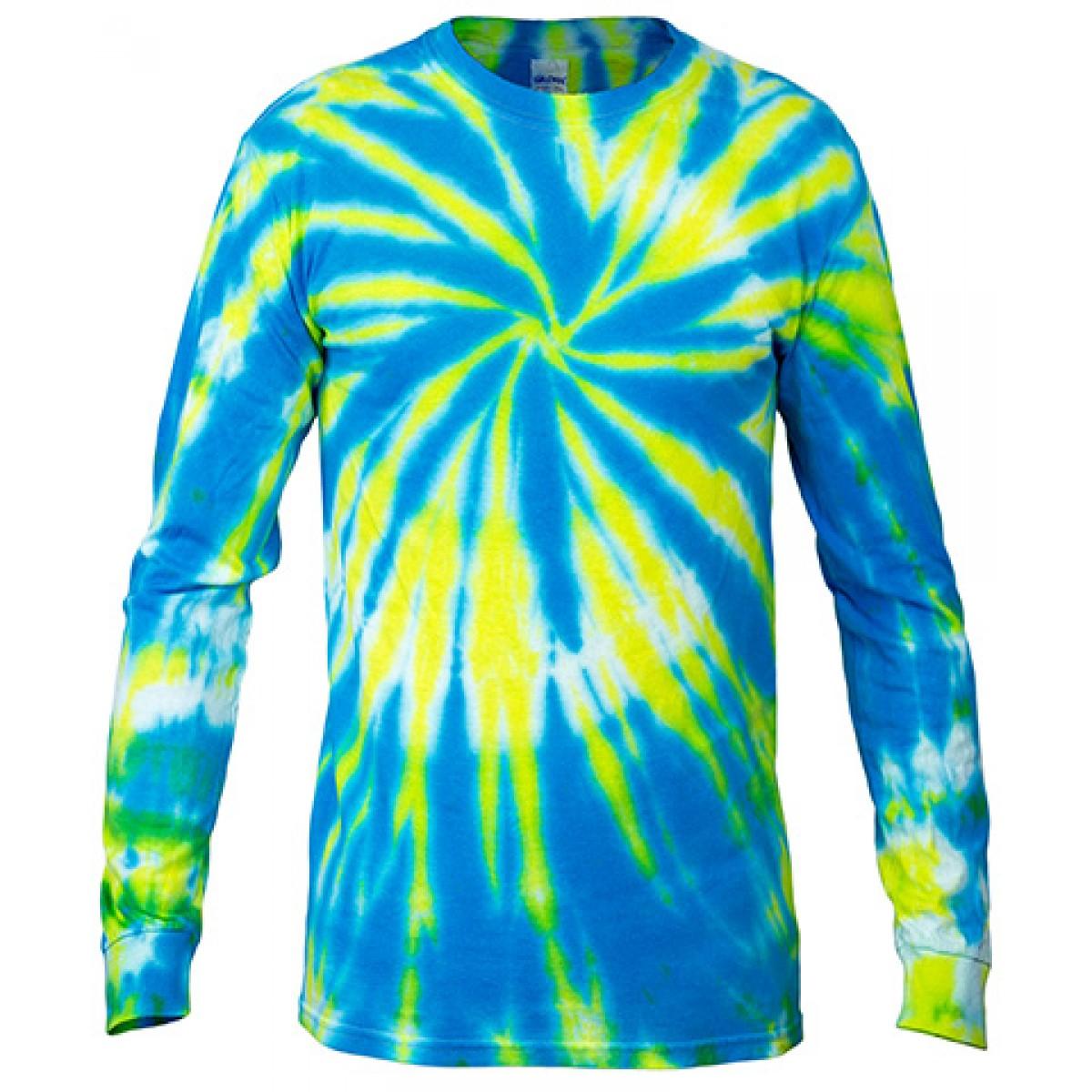 Multi Color Tie Dye Long Sleeve Shirt