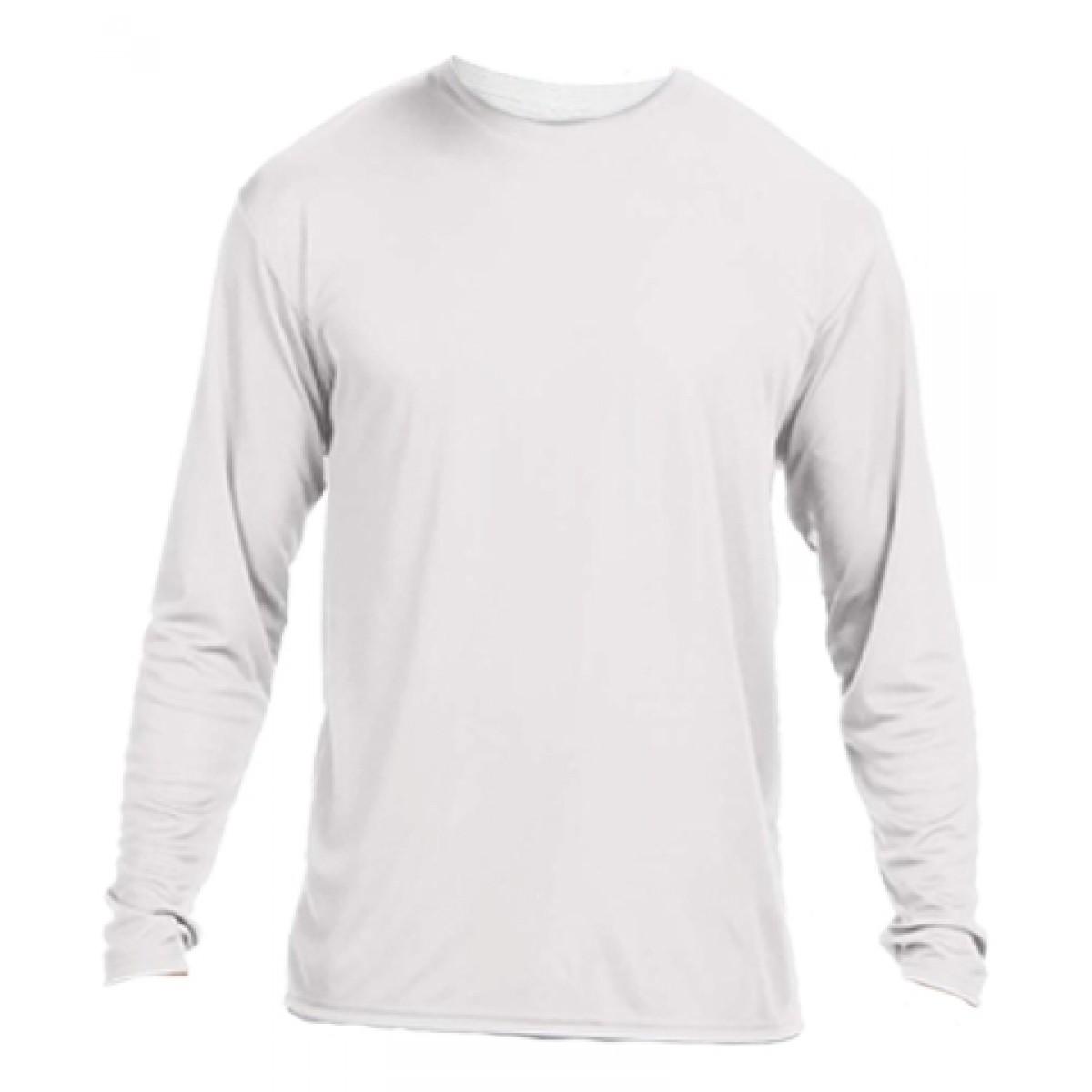 Long Sleeve Performance Tee / White