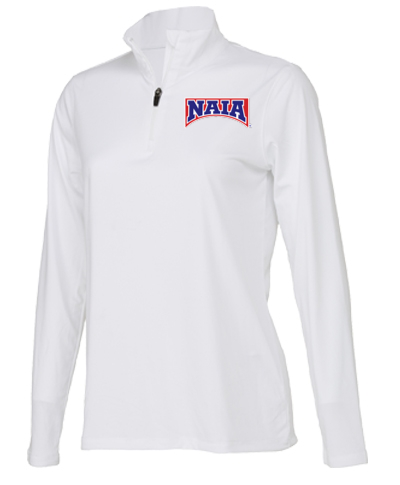 1/4 Zip Performance Pullover (Ladies) / White